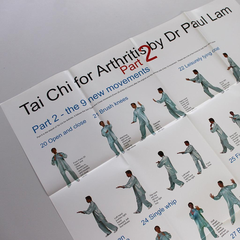 Dr Lam Tai Chi for Arthritis Part 2 Movement Chart